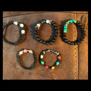 Healing stone diffuser bracelets